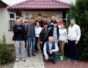 COVID volunteersat the Issyk-Kul lake
